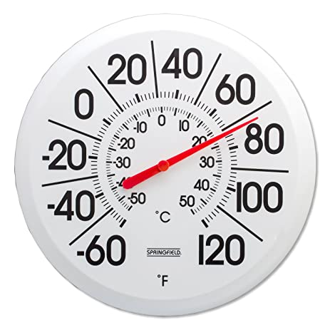 Springfield Big And Bold Low Profile Patio Thermometer (13.25 Inch)