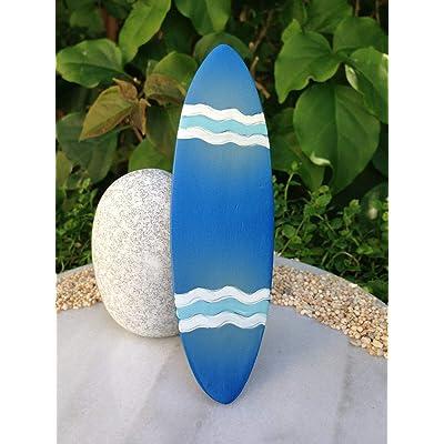 Miniature Dollhouse Fairy Garden ~ Blue Resin BEACH Surfboard SEA ~ NEW: Everything Else