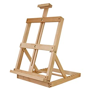 U.S. Art Supply Heavy Duty Adjustable Tabletop Studio H-Frame Artist Painting Easel