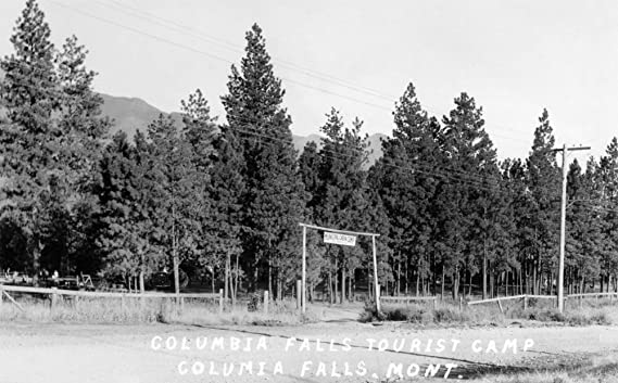 Amazon.com: Columbia Falls, Montana - View of the Entrance to Columbia Falls Tourist Camp (71x74 Polyester Shower Curtain): Home & Kitchen