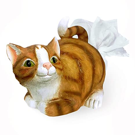 mikamax - Soporte de Papel para Gatos - Amantes del Gato Lindo - Resina - 30