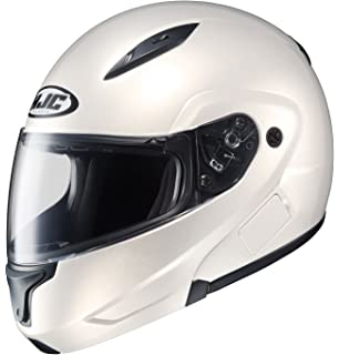 HJC CL-MAXBT II Bluetooth Modular Motorcycle Helmet (Pearl White, Medium)