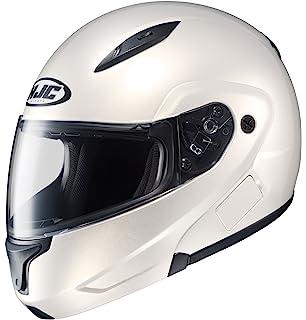HJC CL-MAXBT II Bluetooth Modular Motorcycle Helmet (Pearl White, Medium)