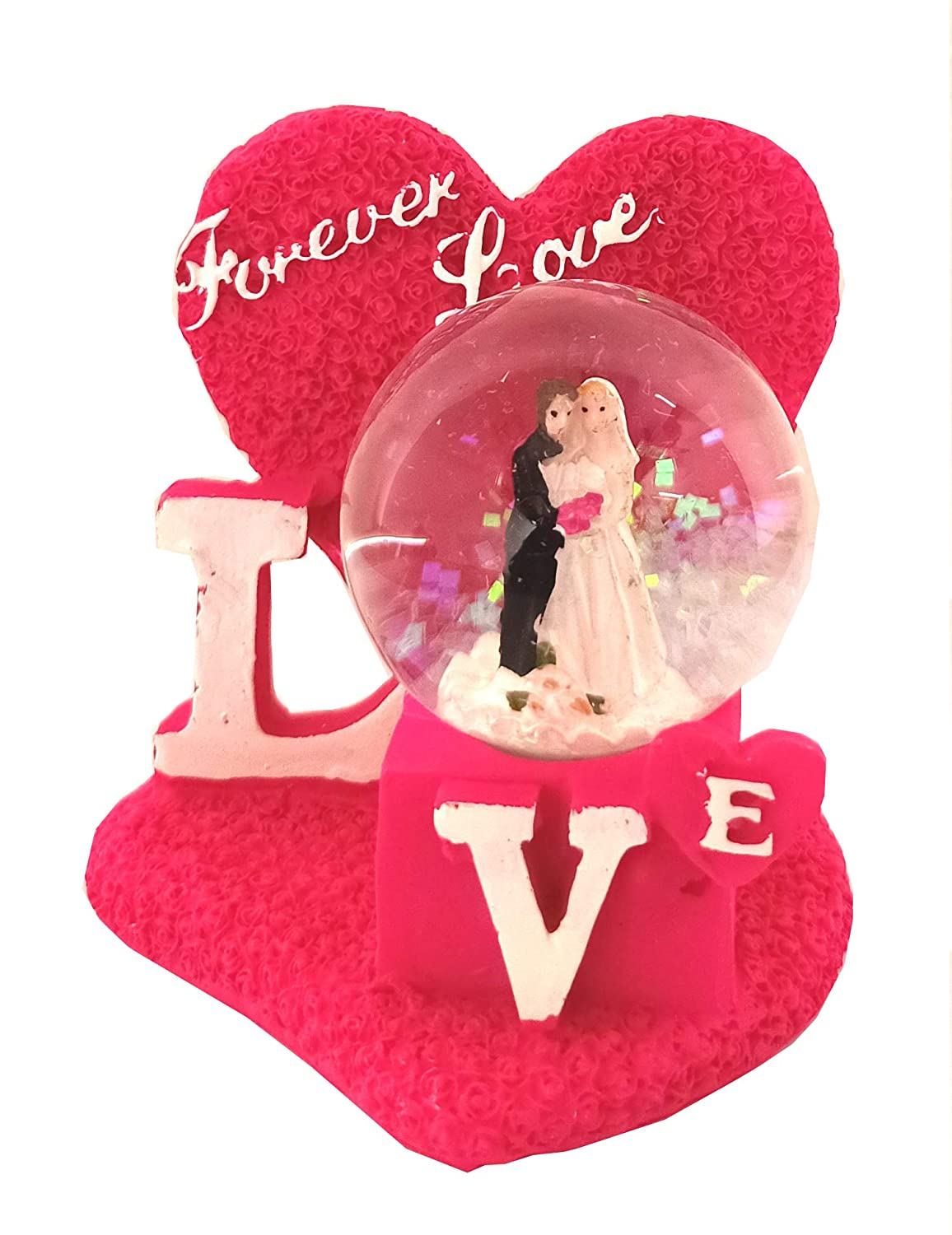 Buy Mm Cute Romantic Valentine Love Couple Statue Showpiece With Heart For Boy Friend Girl Friend Valentine S Day Gift Colour Changing Light Online At Low Prices In India Amazon In