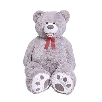 Amazon teddy bear plush giant teddy bears stuffed animals teddy teddy bear plush giant teddy bears stuffed animals teddy bear love big footprints 5 feet grey altavistaventures Images