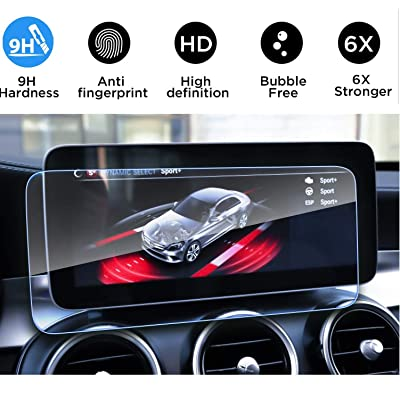 Screen Protector Compatible with 2020 2020 Mercedes Benz C/GLC 10.25inch Touch Screen,Flyingchan,Anti Glare Scratch,Shock-resistant, Navigation Protection Accessories Premium Tempered Glass (W205,V253: GPS & Navigation
