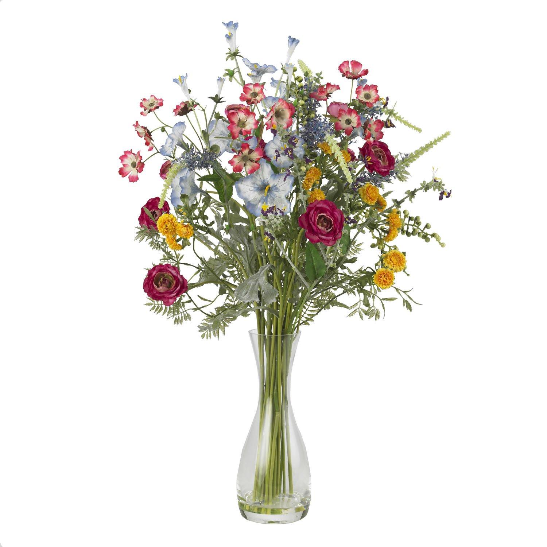 Nearly Natural 4696 Veranda Garden Silk Flower Arrangement, Mixed