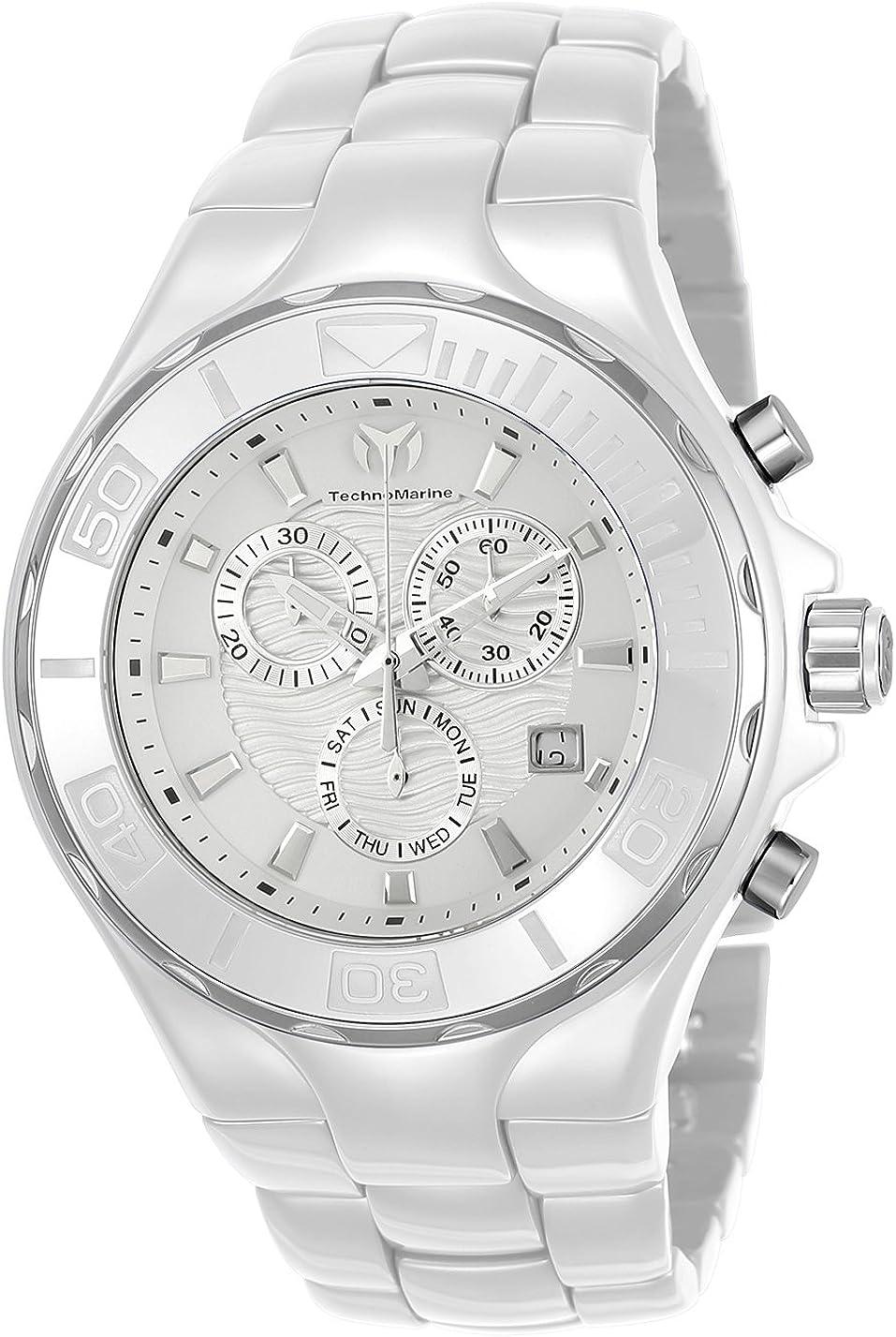 Technomarine Men s Cruise Quartz Watch with Ceramic Strap, White, 24 Model TM-115319