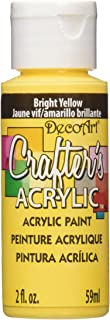 product image for DecoArt DCA49-3 Crafter's Acrylic Paint, 2-Ounce, Bright Yellow