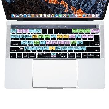 Protector de teclado de XSKN para Mac OS X, modelos Multi Touch Bar MacBook Pro Retina ...