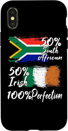 Amazon.com: iPhone X/XS Half Irish Half South African Funny Africa ...
