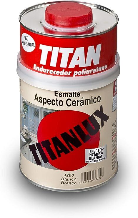 Titan M60103 - Esmalte aspecto ceramica blanco satinado 750 ml ...
