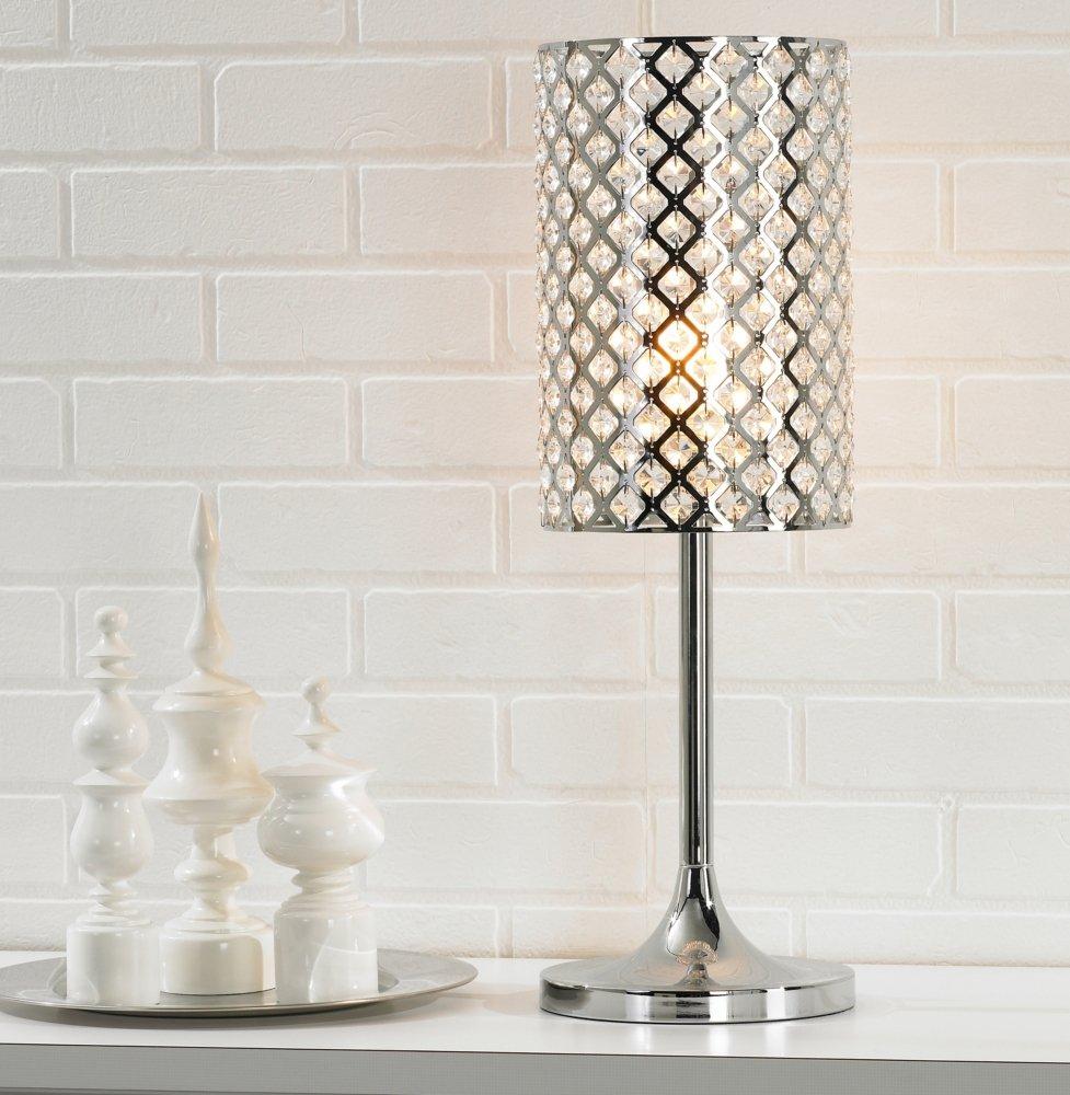 Glitz crystal and chrome table lamp amazon aloadofball Gallery