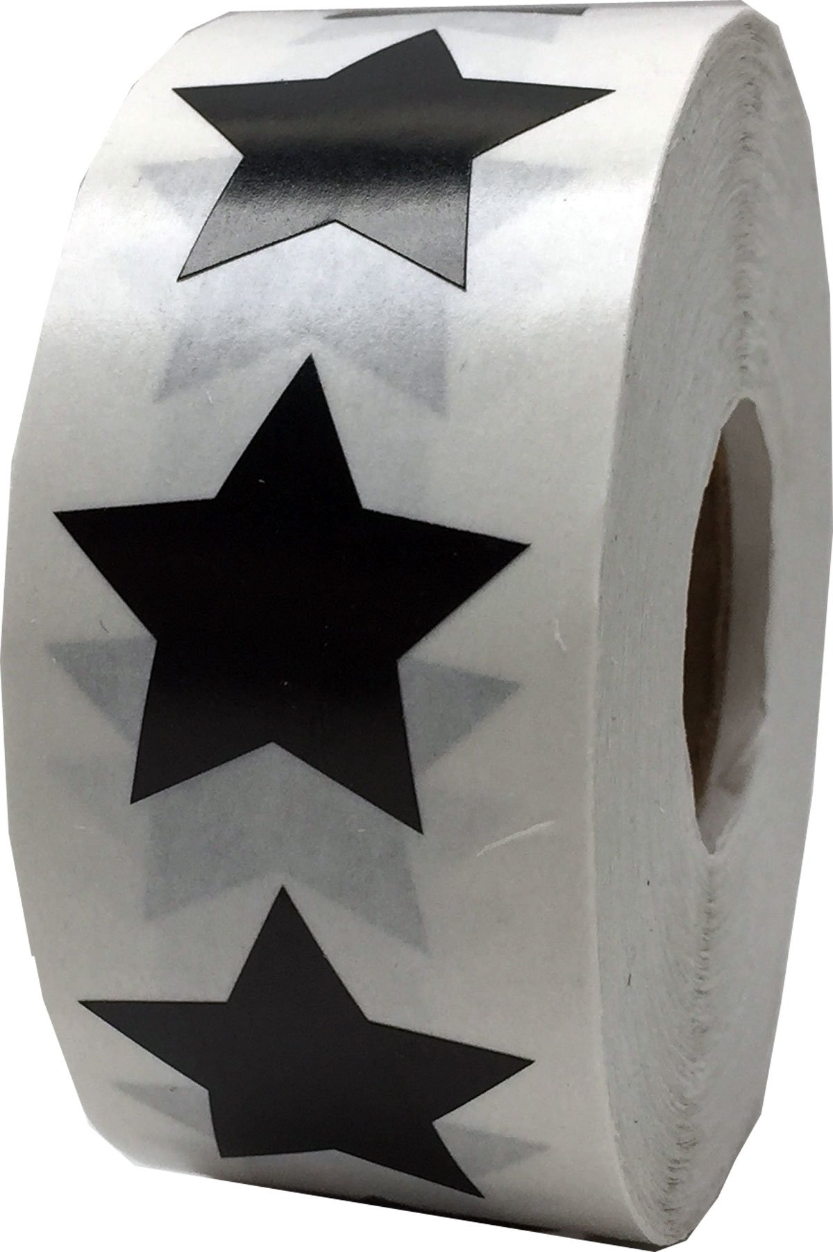Black Star Stickers, 1 Inch in Size, 500 Labels on a Roll by InStockLabels.com (Image #1)
