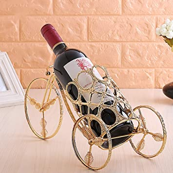 Amazoncom Xiyunhan European Wrought Iron Wine Rack High End Gold