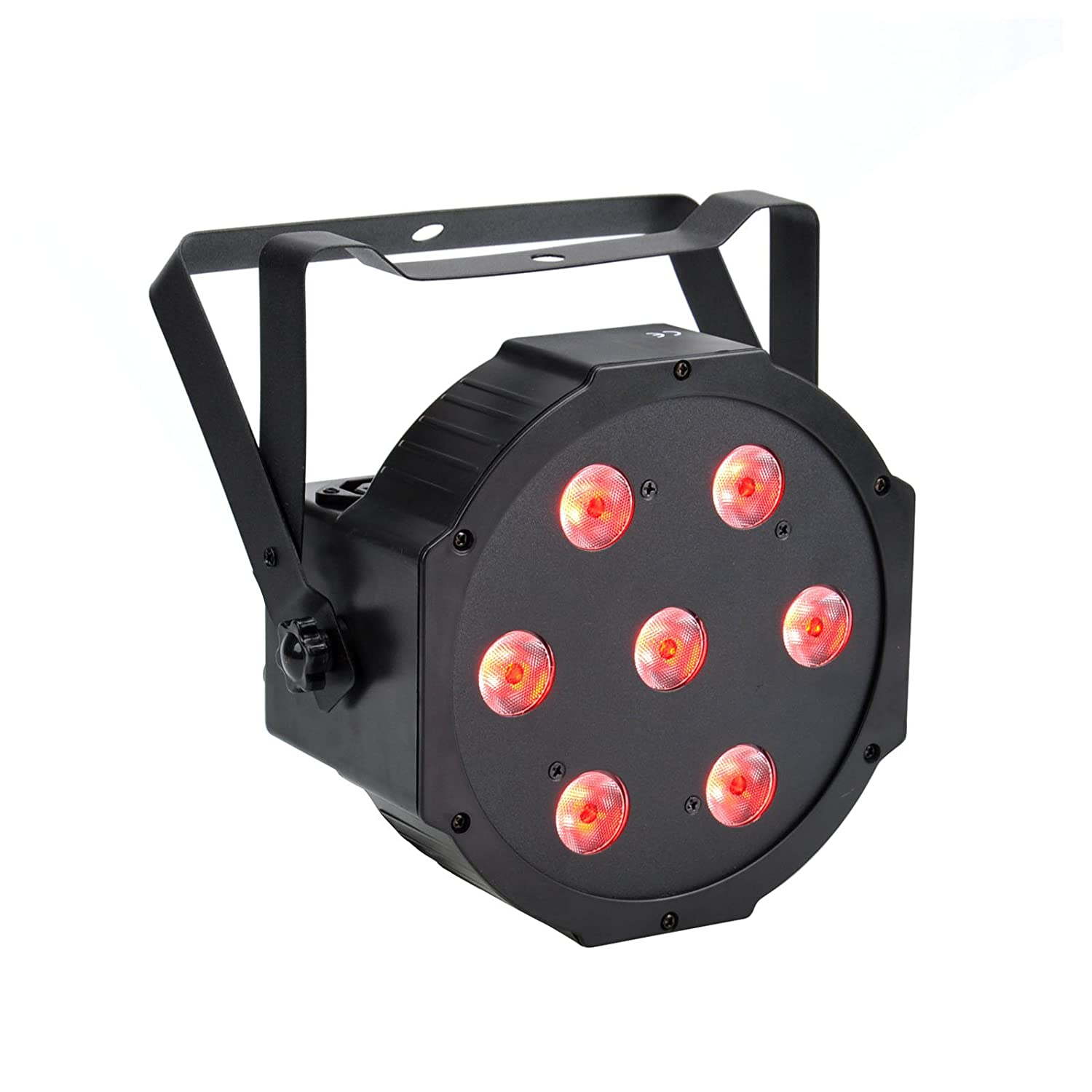 OTTFF 75W LED Uplighting RGBW DMX LED Par Lights Multiple Colors 10W x 7 LED 4-in-1 Stage Lighting Light Super Bright for Wedding DJ Event Party Show