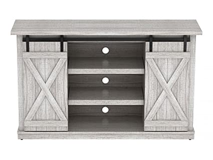 Attractive Comfort Smart Wrangler Sliding Barn Door TV Stand, Sargent Oak