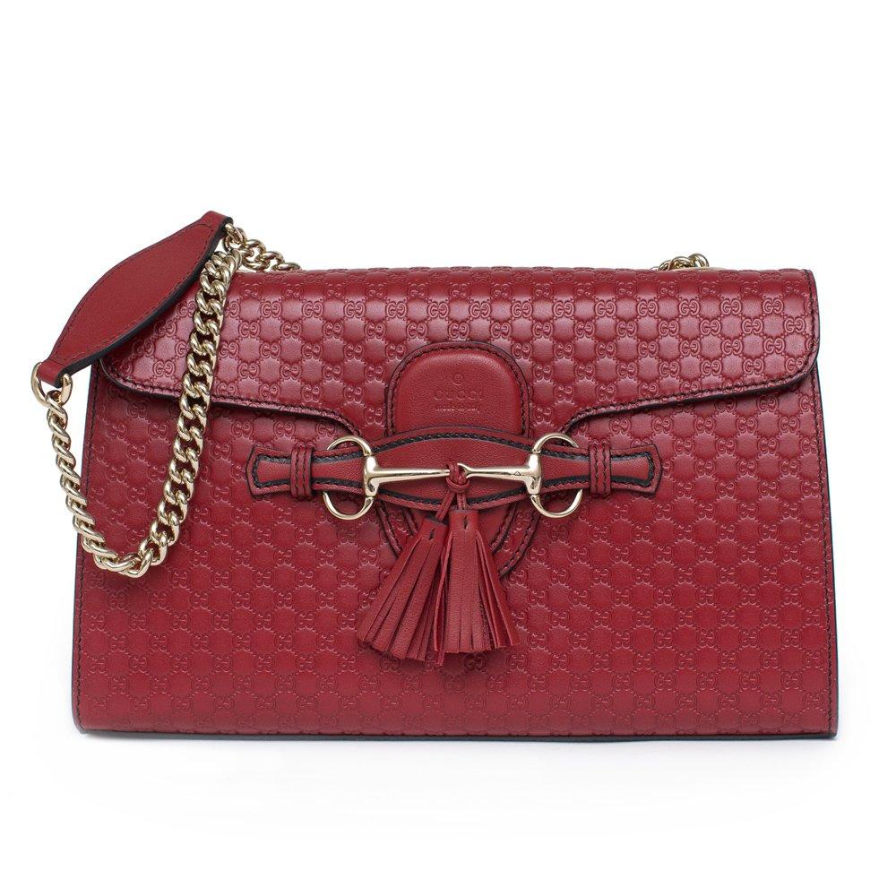 61e78fdfe74 GUCCI Soho Leather Chain Tabasco Red Gold Hardware Small Short Shoulder Bag   Amazon.ca  Shoes   Handbags