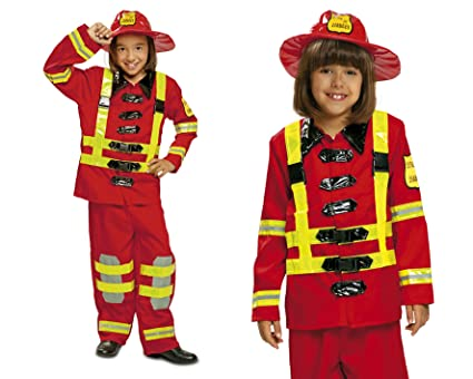 My Other Me Me 200909 - Disfraz de bombero para niños, Talla 3-4 años