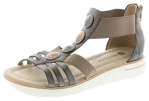 Remonte Damen  Sandale Sandalette Sommerschuhe grau