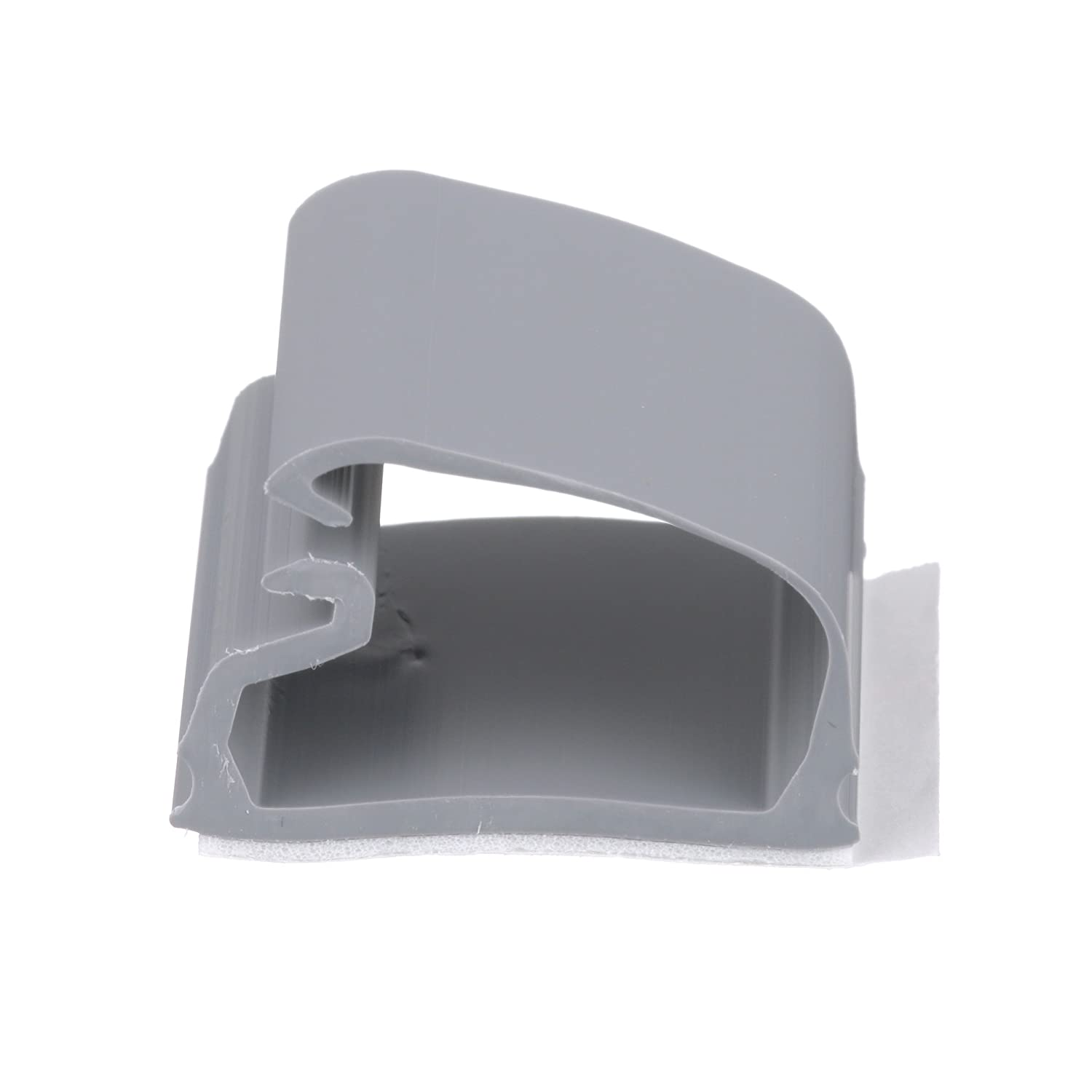 Panduit LC5 A C8 Latching Clip Adhesive Backed PVC 0.36 Inch Bundle Light Gray 100 Pack