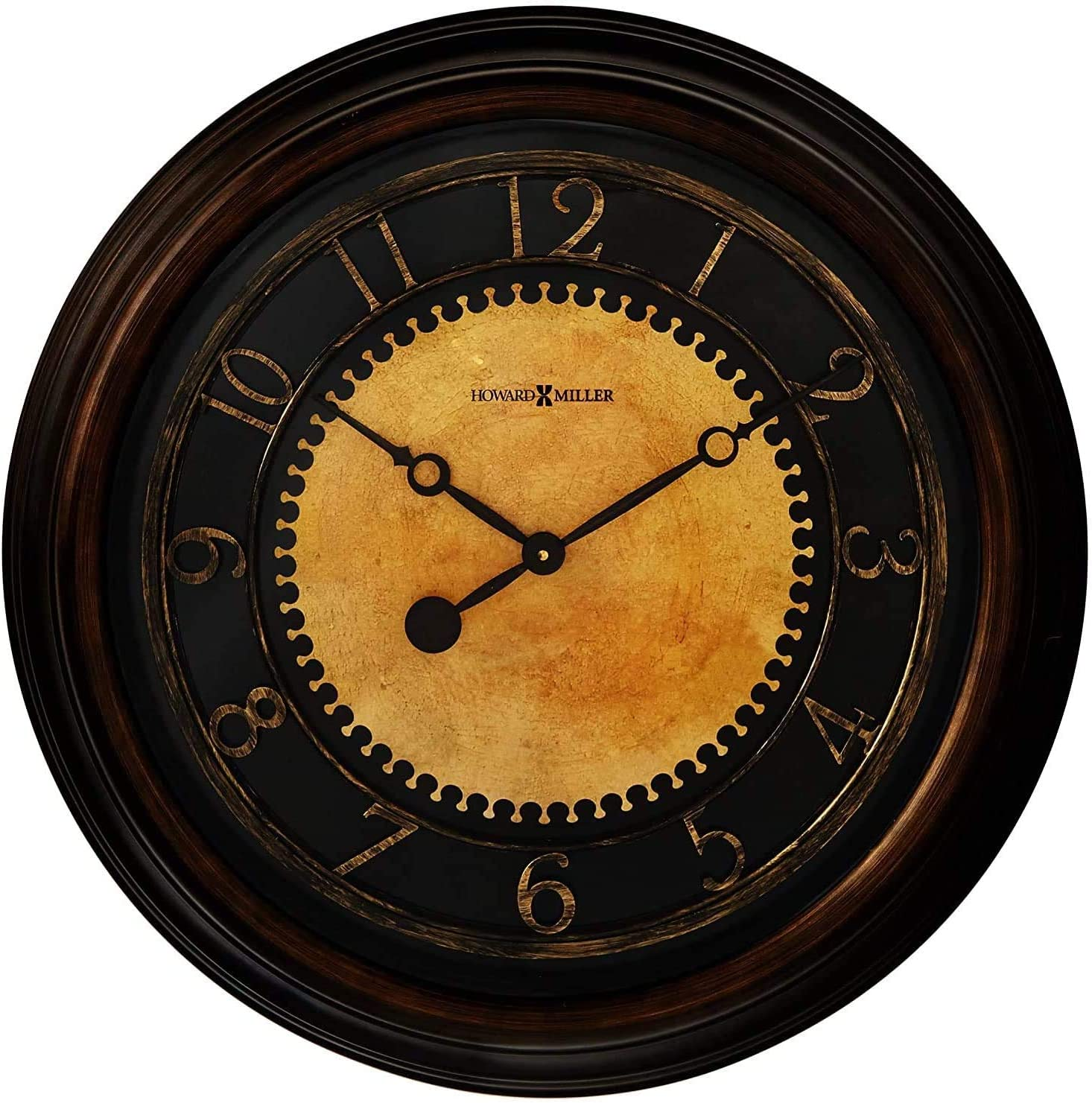 Howard Miller Chadwick Wall Clock 625-462 25.5 Antique Brushed Brass Home Decor with Quartz Movement