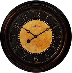 "Howard Miller Chadwick Wall Clock 625-462 – 25.5"" Antique Brushed Brass Home Decor with Quartz Movement"