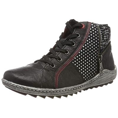 Remonte Women Ankle Boots Black, (Schwarz/Burgund/schw) R1494-02 | Ankle & Bootie
