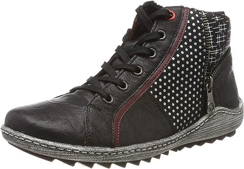 Remonte Women Ankle Boots Black, (SchwarzBurgundschw) R1494 02