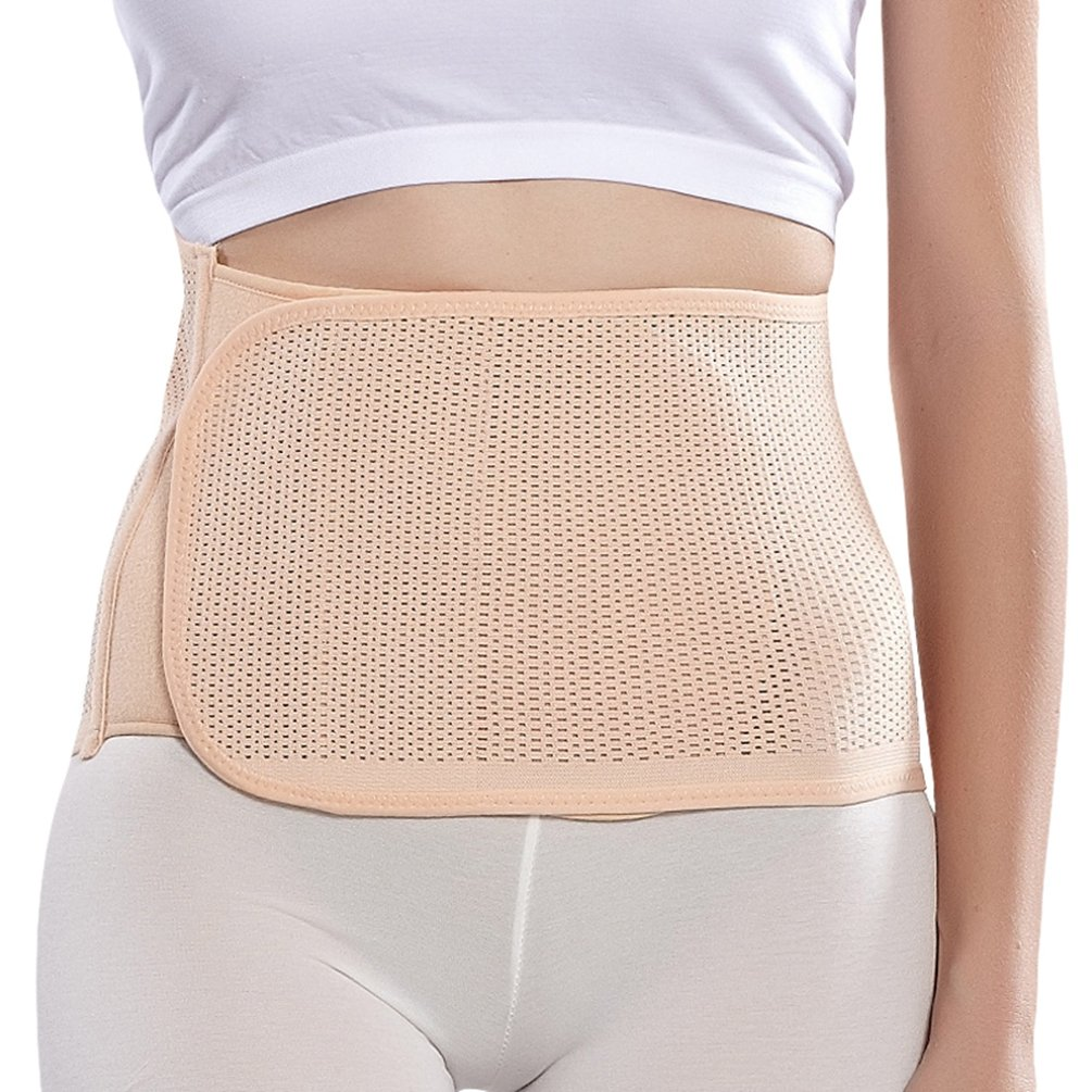Dexinx Solid Color Postpartum Belly Belt Pregnancy Recovery Girdle Corset Waist Wrap Band Comfortable Breathable Body Shaper from Birth