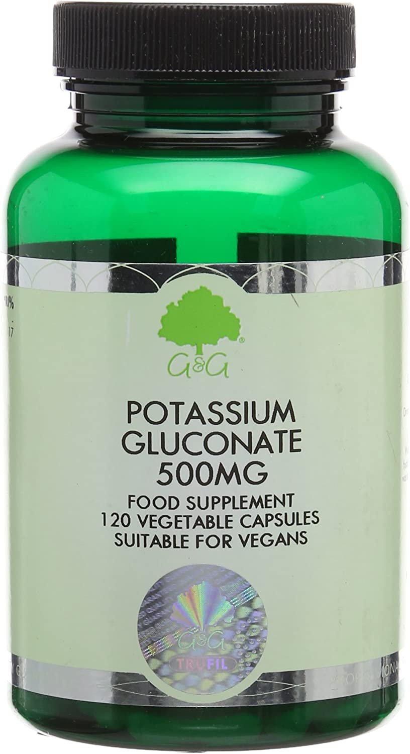 G&G Vitamins 500mg Potassium Gluconate Capsules