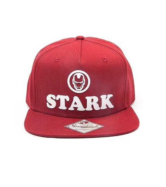 Iron Man Cappellino da baseball Stark logo nuovo Ufficiale Marvel Rosso  Snapback  Amazon.it  Abbigliamento a3eced228c08