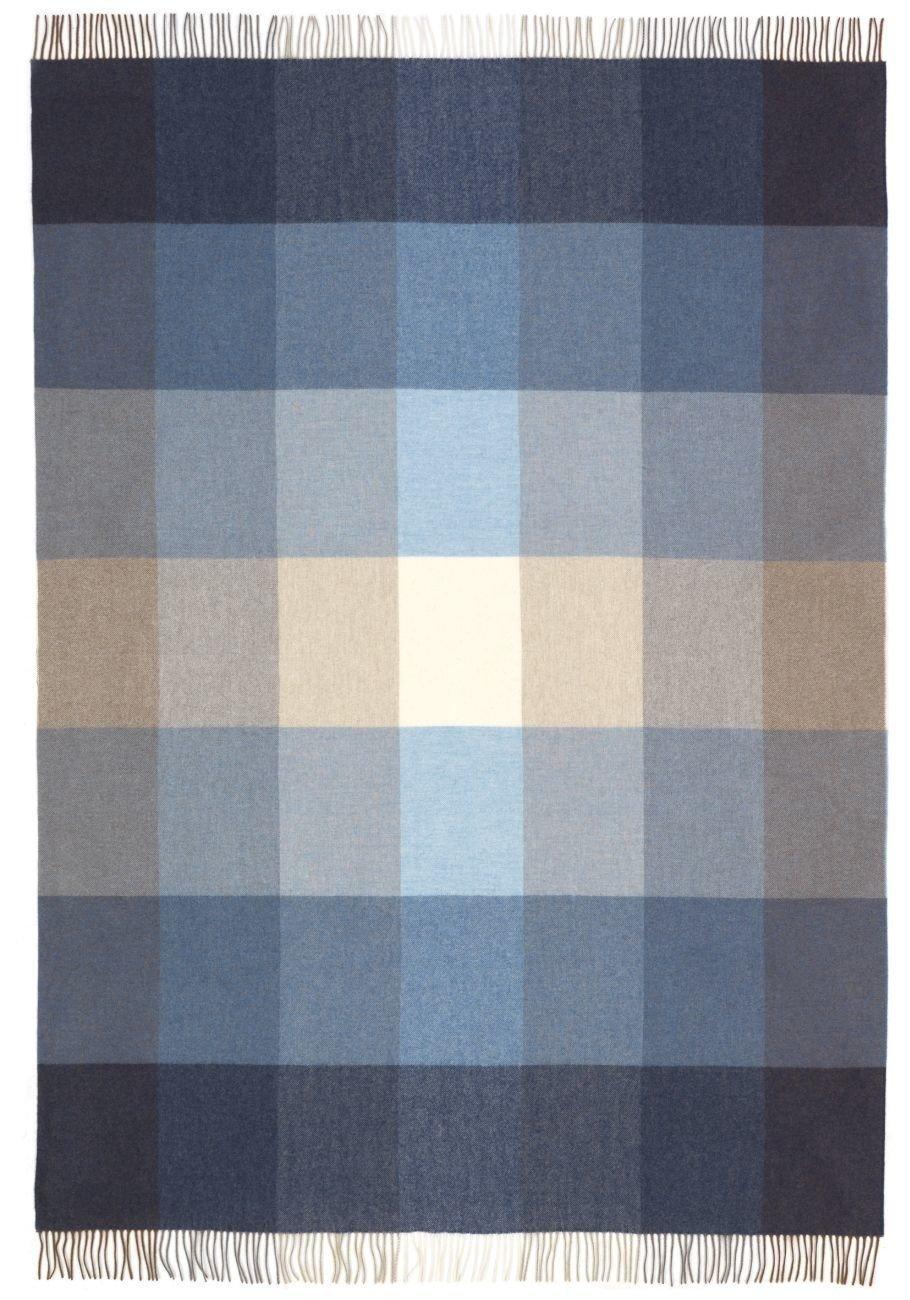 Eagle Products Riva Wohndecken reine Schurwolle Farbe Blau Größe 130x200