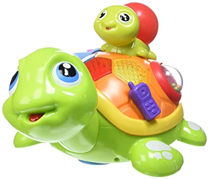 Amazon Com Talking Turtle Toy Rolls Around With His Cute Little Son