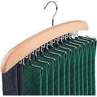 Konesky Tie Rack, 24-Hook Tie Hanger Organizer Accessory Natural Wooden Hanger Organiser Rack Best Choice for Your…