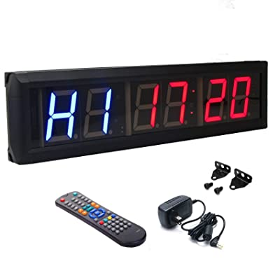 "BTBSIGN 2.3"" Programmable LED Interval Timer Countdown Clock Stopwatch"