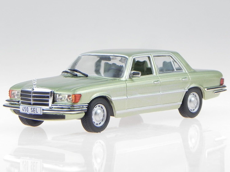 Mercedes 450 SEL 6.9 S-Klasse W116 1976 blaugrau metallic Modellauto 1:18 Norev