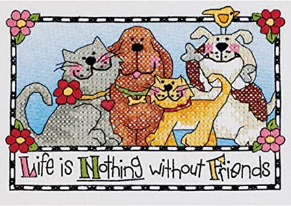 """Cross Stitch Kit Learn a Craft /""""Life is Good /"""" New by Dimensions"""