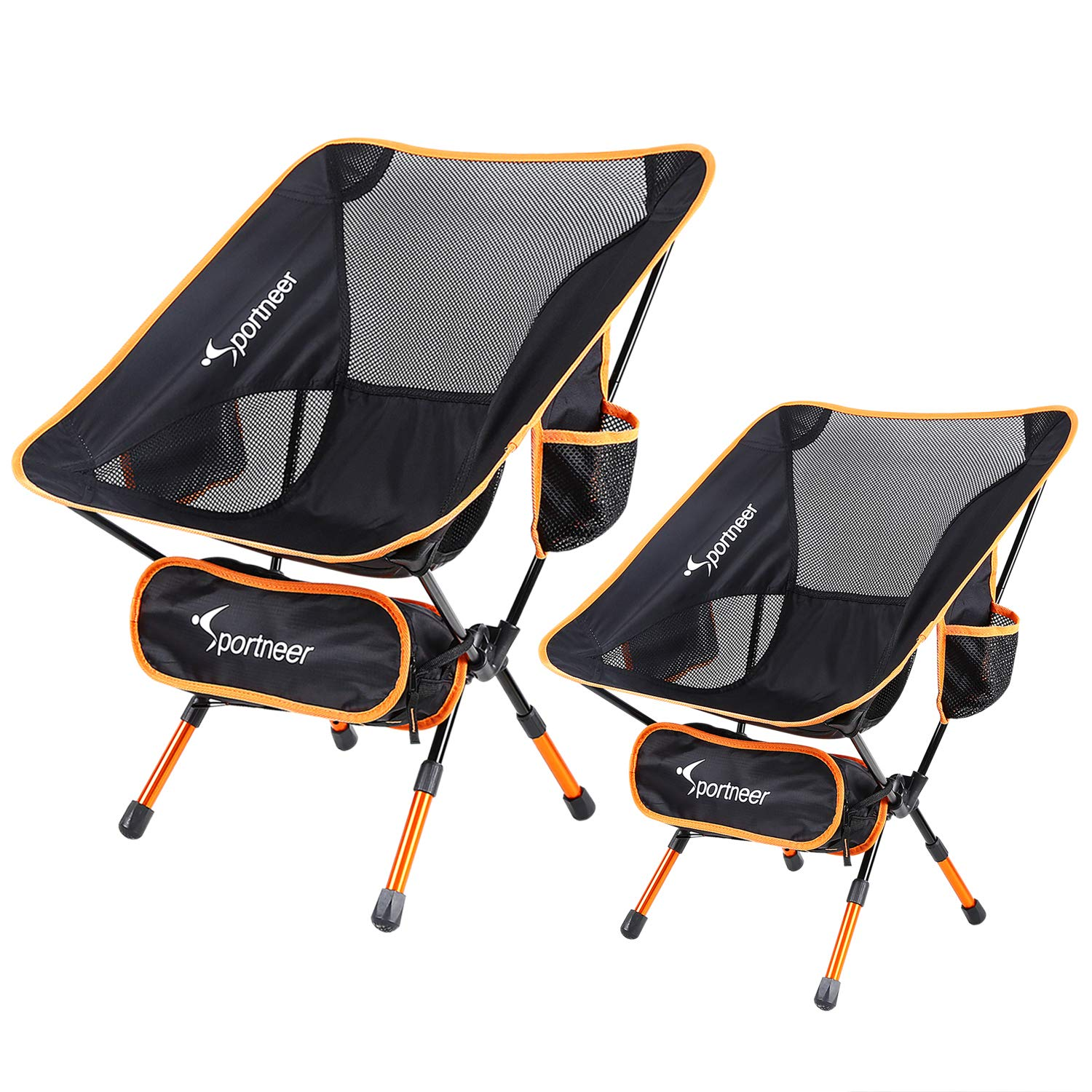 Ultralight Portable Folding Camping Chair, Sportneer Backpacking Chairs, Compact and Heavy Duty Outdoors, BBQ, Beach, Travel, Picnic, Festival with Storage Bags and Carry Bag
