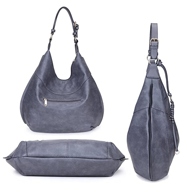 ca0884bafe68 Amazon.com  Dasein Hobo Shoulder Bag Top Zip Handbag Large w Crossbody  Strap Army Green  Shoes