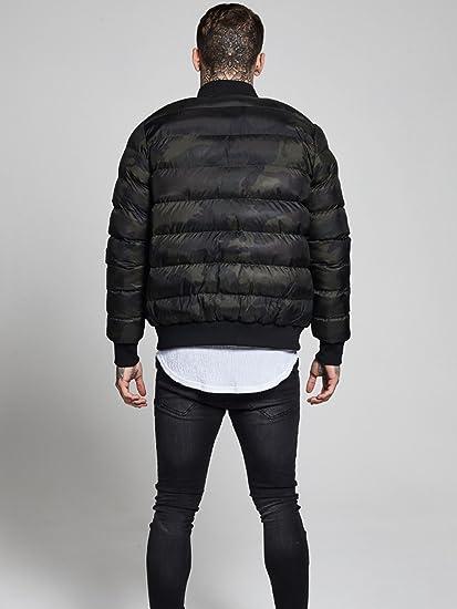 Sik Silk Aero Bubble Zip Camo Bomber Jacket S Camo at Amazon Mens Clothing store: