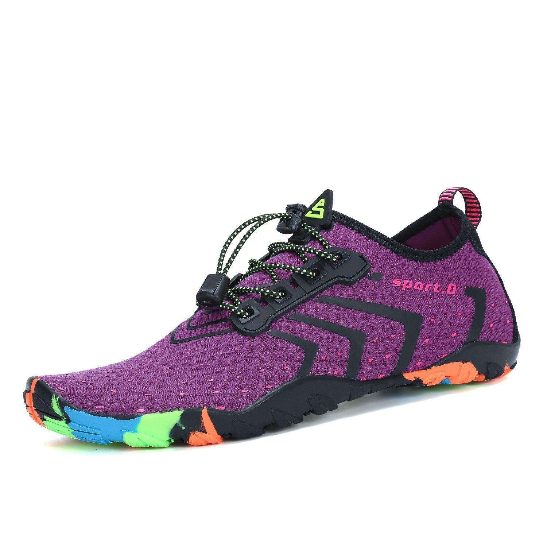 1a59f649b3b4 katliu Mens Water Shoes Quick Dry Breathable Aqua Socks Womens Outdoor  Barefoot Skin for Beach