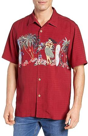 55b6273c Tommy Bahama Mele Kelikmaka Silk Camp Shirt at Amazon Men's Clothing store: