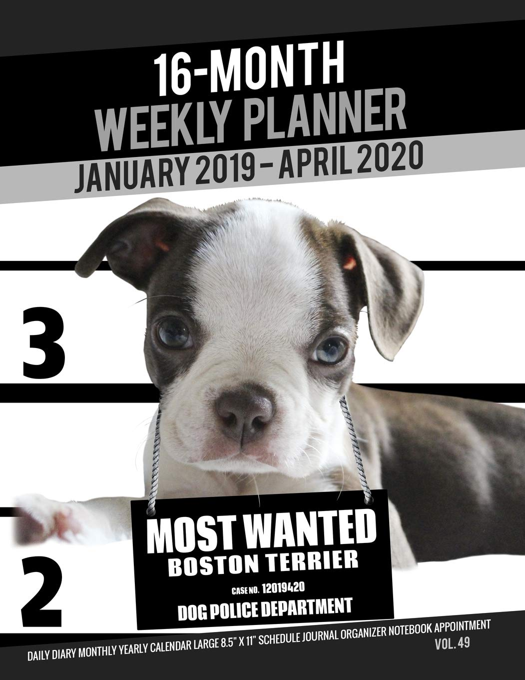 Boston Calendar January 2020 16 Month January 2019  April 2020 Weekly Planner   Most Wanted