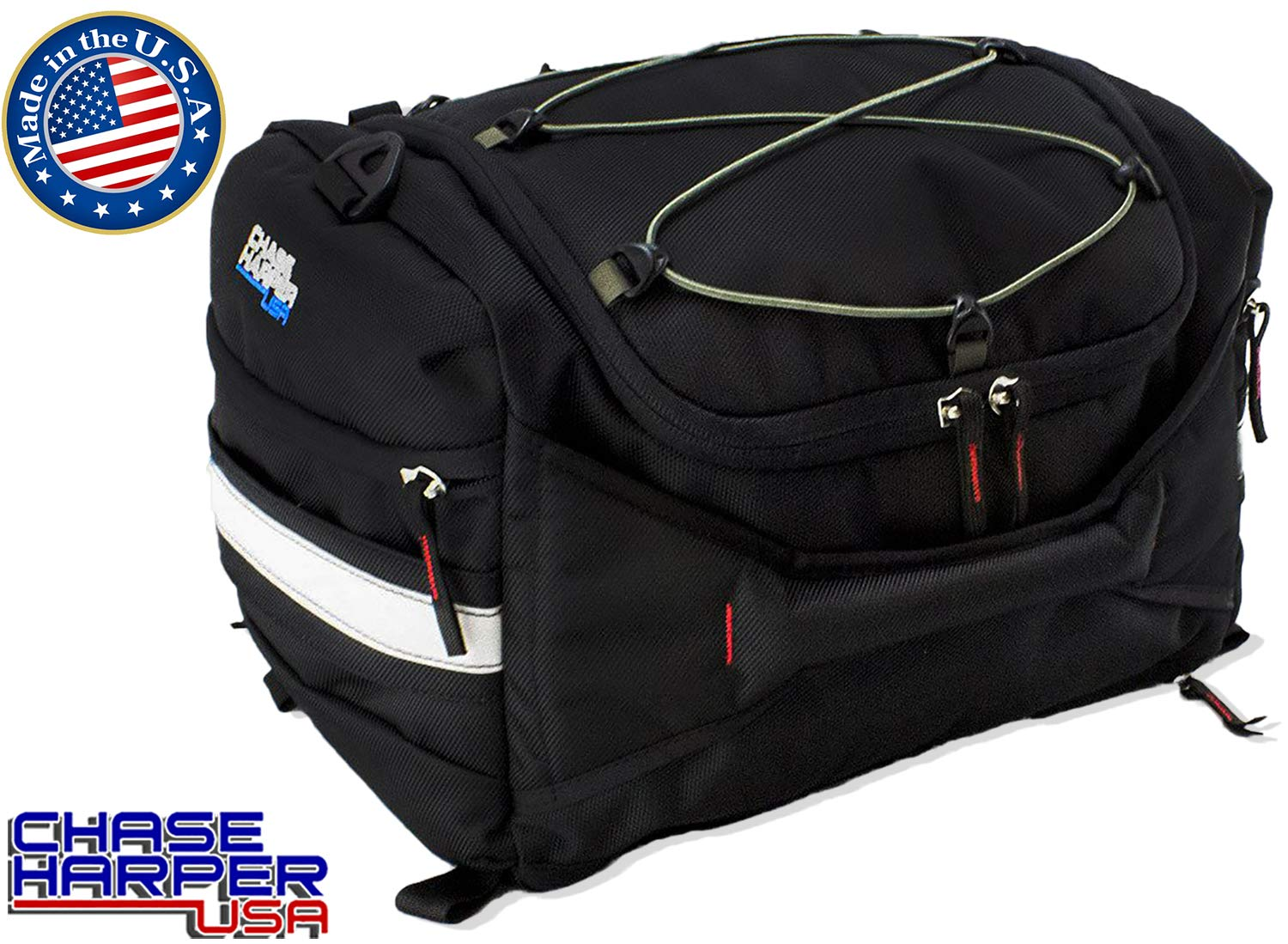 Chase Harper 4200 Hideaway Tail Trunk - Water-Resistant, Tear-Resistant, Industrial Grade Ballistic Nylon with Adjustable Bungee Mounting System for Universal Fit, StuffSack Pocket for Easy Transport, 18.8 Liters of Storage - 12''Lx12''Wx8''H by Chase Harper USA