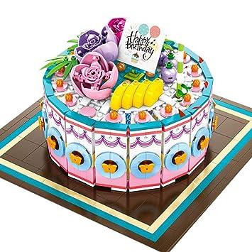 Amyove Pastel de cumpleaños Bloques de construcción de ...