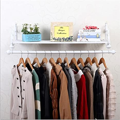 Amazon.com: HTDZDX Coat Rack Clothing Rod Rack with Storage ...