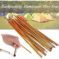 Tent Pole Rod Bar, med metall tält pole aluminium legering stål värmeplatta för vandring camping