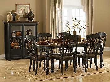 Amazon.com - Homelegance Ohana 7 Piece Dining Table Set in Black ...