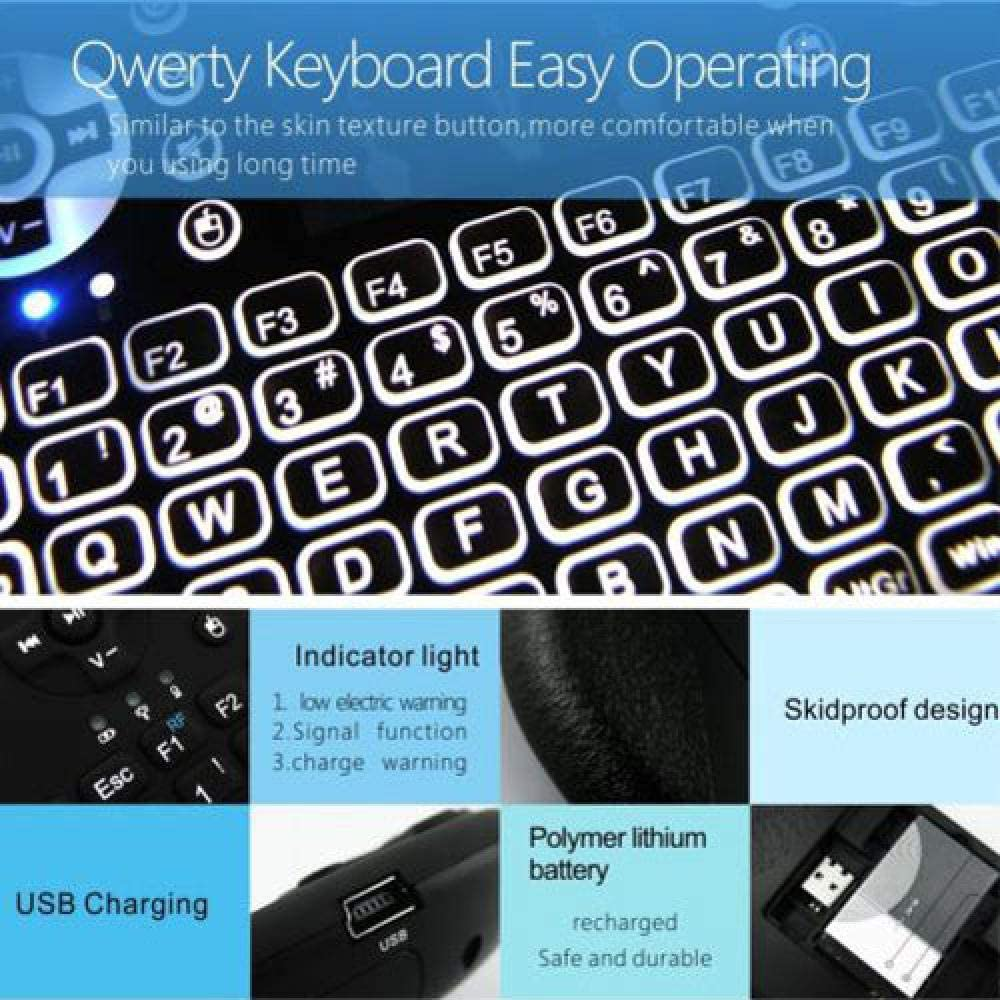 WYCDA 2.4G Wireless Keyboard Ultra Slim Full Size with Numeric Keypad for Computer//Desktop//PC//Laptop//Windows 10//8//7 Built in Rechargeable Battery